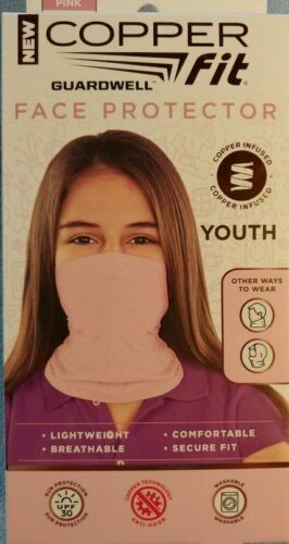 Copper Fit Guardwell Face  Protector Pink Youth