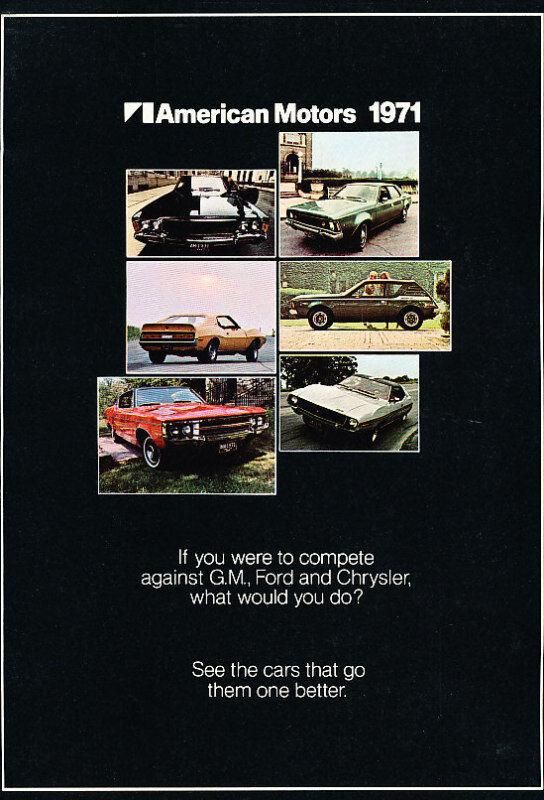 1971 AMC Car Sales Brochure - Javelin AMX Gremlin Ambassador Hornet Matador