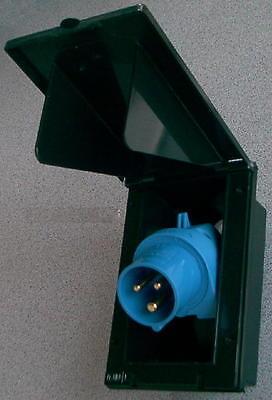 Einspeisestecker hoch 230 Volt CEE schwenkbar schwarz r820107L NEU