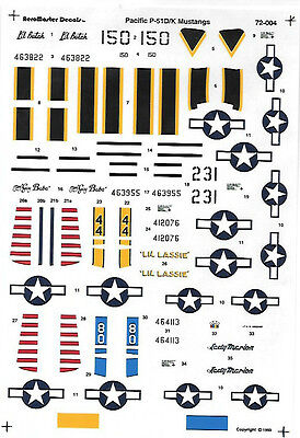 AeroMaster 1/72 Mustangs P-57D/K Pacific Decals AN72004
