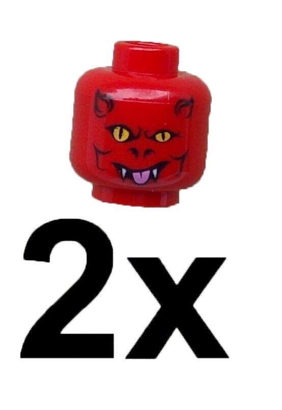 Lego 2x Totenkopf Skelettkopf gruselig Kopf Neu