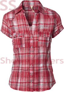 NEW Womens Stylish Fitted CASUAL CHECK SHIRT Ladies RED NAVY Top Size 8 10 12 14