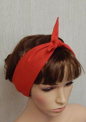 Rockabilly red headband retro hair scarf 50's head wear pin up head wrap bandana