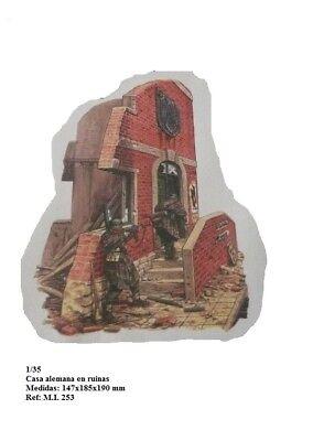 WWII edificio aleman escaleras para diorama 1/35 accessories casa house