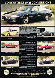2000-NCE-Conversion-Cadillac-Seville-Classic-Vintage-Advertisement-Ad-D09