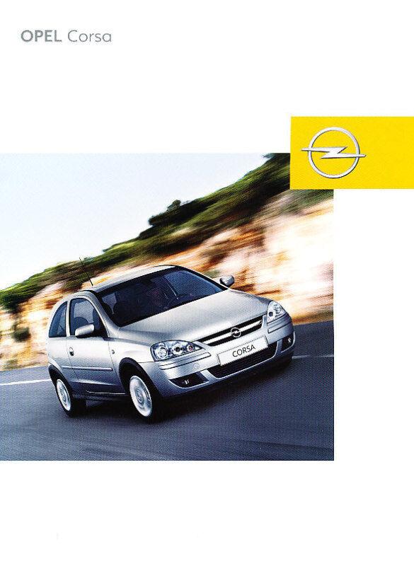 2004 Opel Corsa Deluxe German Sales Brochure Prospekt
