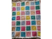 For sale Crocheted Granny square baby blanket
