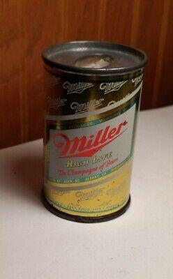 """Vintage Miller Mini Beer Can 3"""" High Bic Lighter Holder - Metal Can"""
