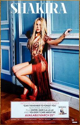 SHAKIRA Shakira. 2014 Ltd Ed New RARE Poster +FREE Pop Poster! S/T Latin Rock