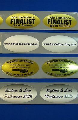 Printed Oval Labels 250 Custom Business Stickers 1-color Ink 1-14 X 2-12