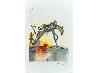 SALVADOR DALI - 'Le cheval de labeur' - limited edition vintage lithograph - c1983