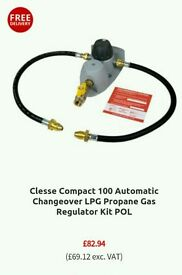 Clesse Compact 100 Automatic Changeover LPG Propane Gas Regulator Kit