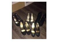 Four pair of heels -size 6