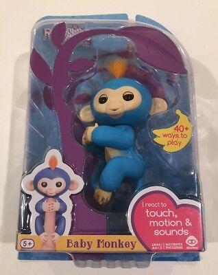 New Wowwee Fingerlings Boris Baby Monkey Interactive Toy   Blue