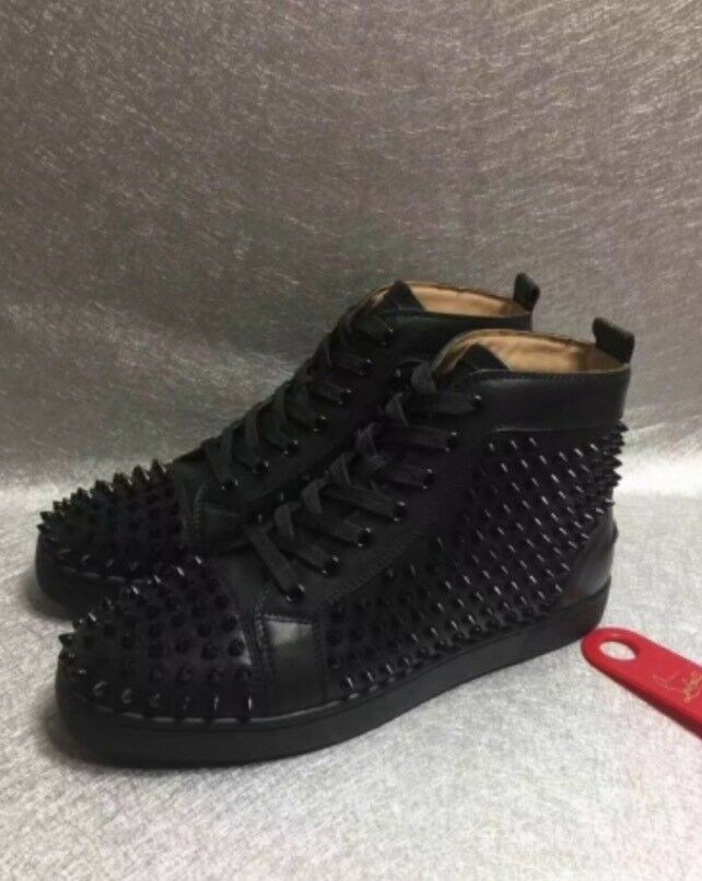 Christian Louboutin High Top Sneakers Black Leather In Ealing Broadway London Gumtree
