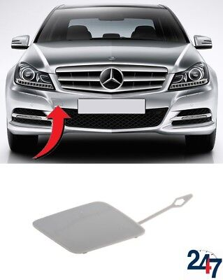 GENUINE Front Bumper Tow Hook Primed Cover MERCEDES C Class W204 11-14 Facelift