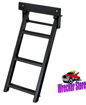 Retractable Truck or Trailer Step, Ladder, 3 Rungs. For Car Hauler, Flat Bed etc