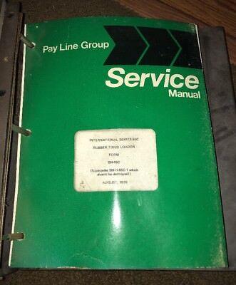 International Harvester Serie 65c Rubber Tire Loader Service Repair Manual