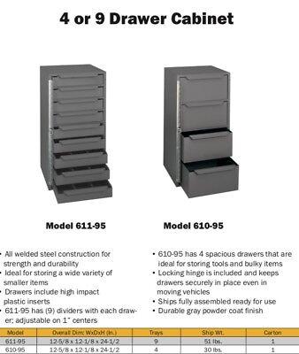 Metal Storage Bins Locking Drawer Cabinet Parts Nut Bolts Fasteners Screws Truck