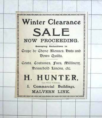 1919 Winter Clearance Sale At H Hunter 1, Commercial Buildings Malvern Link - Hunter Clearance Sale