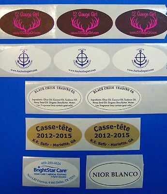 Printed Oval Labels 250 Custom 1-color Business Stickers 1 X 2 On A Roll