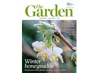 12 issues of The Garden magazine 2015