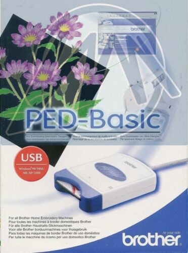 Brother PED Basic Embroidery Design Transfer Box & Card & Designs