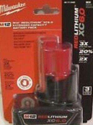 Milwaukee 48-11-2460 M12 RedLithium XC6.0 Battery Pack   Brand New