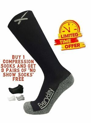 Best Graduated Compression Socks for Men & Women (15-20 mmHg) for Travel,