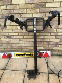 Bicycle Rack - 4 bikes, TowBar Mounted with Number Plate Board