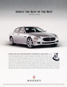 2006 maserati quattroporte sport gt the best vintage advertisement ad a19 b. Black Bedroom Furniture Sets. Home Design Ideas