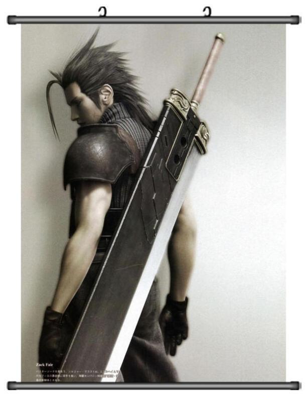 Zack Fair Final Fantasy VII 7 Home Decor Japanese Wall poster Scroll Anime B