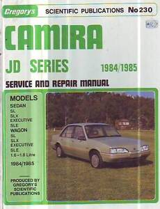 HOLDEN CAMIRA JD WORKSHOP SERVICE   REPAIR MANUAL 1984-85 1.6 1.8 Sefton Bankstown Area Preview