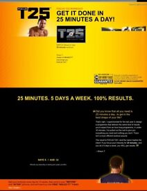 T25 Alpha + Beta Get it Done DVDs and Fitness Regime. Brand new, unwanted gift £30