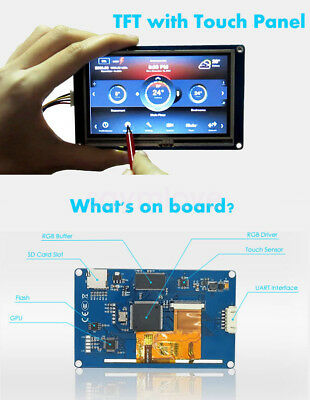 New 7 Nextion Hmi Tft Lcd Display Module For Arduino Raspberry Pi