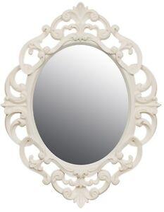 Cream Baroque Rococo Ornate Vintage Antique Style Oval Wall Mirror Next Day Desp