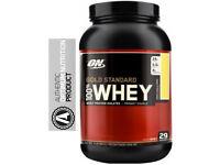 Optimum Nutrition 100% Gold standard Whey protein 908g Vanilla Ice cream brand new authentic stock