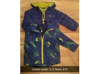 2 Boys Joules coats ages 2-3 Years.