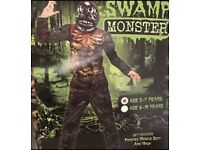 Boys Halloween Swamp Monster Costume 5-7 Yearsnew