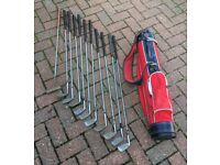 Set Of Golf Clubs & Bag