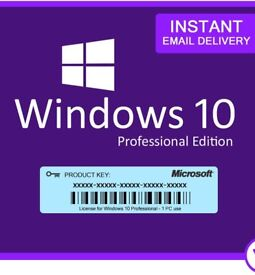 Genuine Windows 10 Pro 32/64Bit Product Key