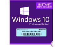 Genuine Windows 10 Pro 32/64Bit Product Key
