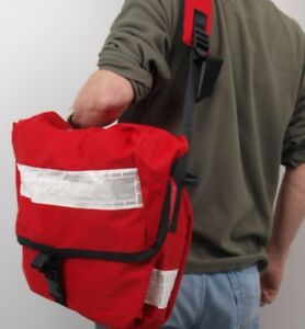 7cb801712b03 ROYAL MAIL SHOULDER BAG - large hi-visibility red leaflet courier delivery  post