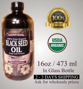 16 oz 100% Pure Black Seed Oil Cold Pressed Cumin Nigella Sativa USDA Organic