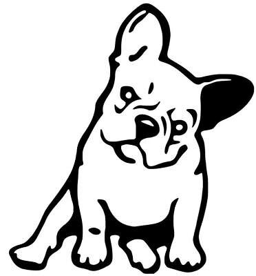 French Bulldog Dog vinyl decal sticker Pet animal Car Laptop Yeti 12