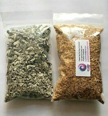 2 BAGS PALO SANTO DUST Powder 60 GR AND California White Sage Smudge Leaf 60 GRM