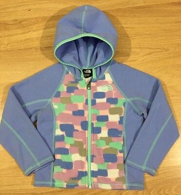 The North Face Full Zip Fleece Hoodie Baby Toddler Size 3T Multicolored  ()