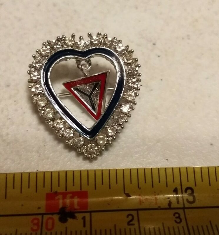 Vintage International Y YMCA Related Heart Pin