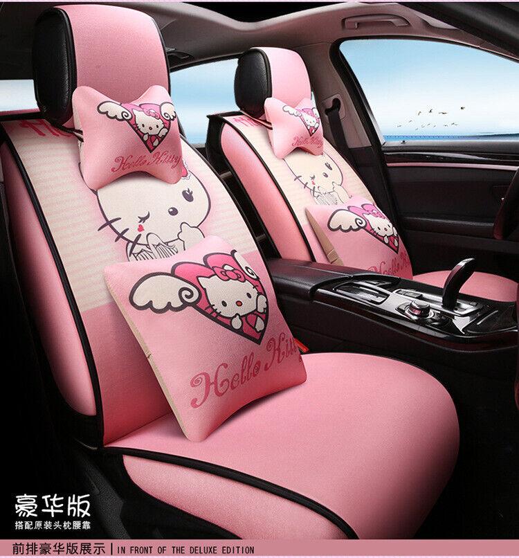 Ribbon 2pcs Sanrio Hello Kitty Car Seat Belt Cover