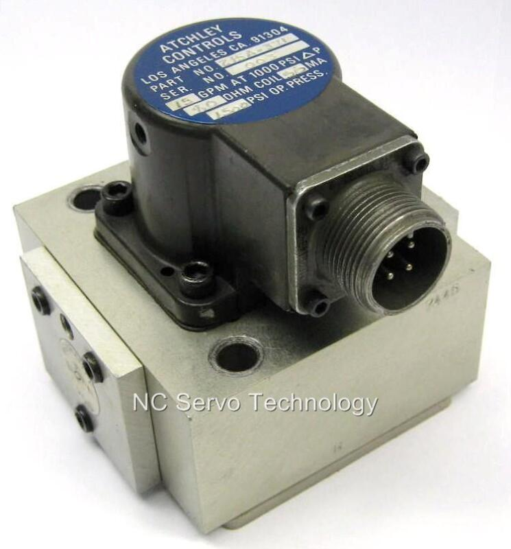 Atchley 215a-371 Servo Valve 215a-242 Specs Rebuilt/tested W/1 Yr Warranty
